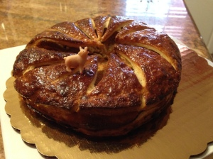 Galette des rois, from La Boulangerie, in New Orleans