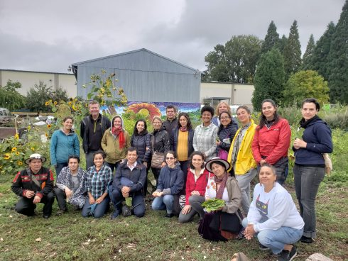 Group photo at Oregon Food Bank Farms
