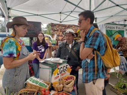 Interviewing at the Corvallis Farmers Market